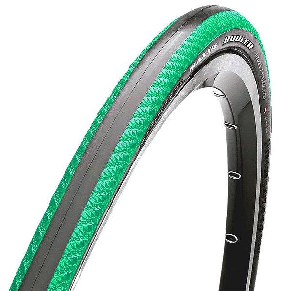 Pneu Maxxis Rouler 700x23C Dobrável Kevlar Fx Verde