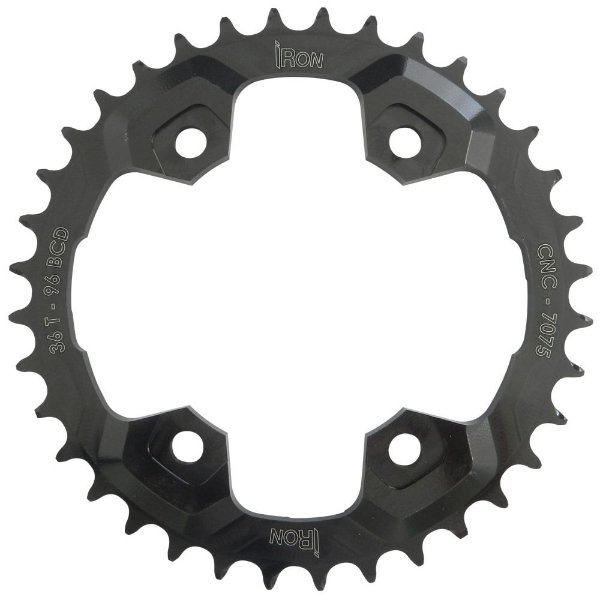 Coroa Iron Indexada BCD96 36T Shimano Duplo Preto