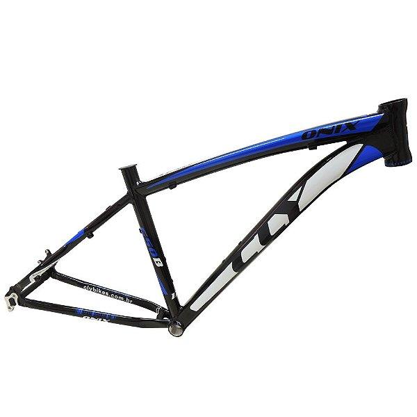 Quadro Bicicleta Cly Onix 27.5 em Alumínio Preto/Azul
