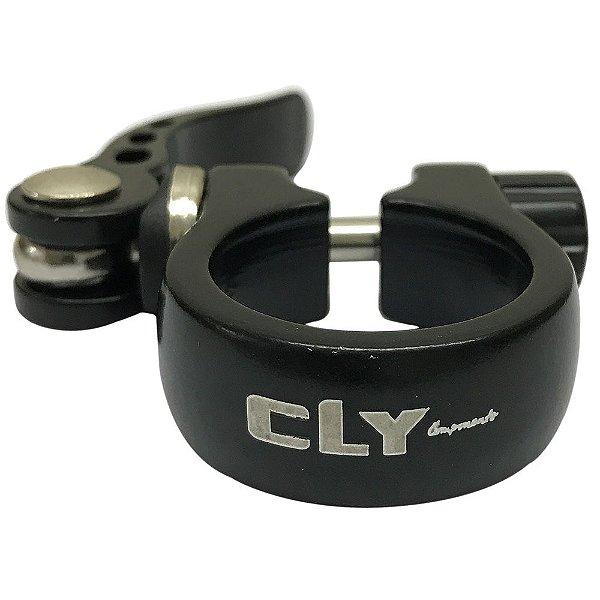 Abraçadeira de Selim Cly Components AB 31.8mm em Alumínio Preto
