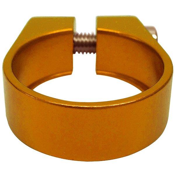Abraçadeira de Selim Cly Components 34.9mm em Alumínio Dourado