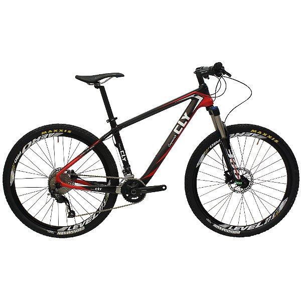 Bicicleta Cly 27.5 CFM 14 Carbono Câmbio Shimano 18 Marchas Freio a Disco Hidráulico