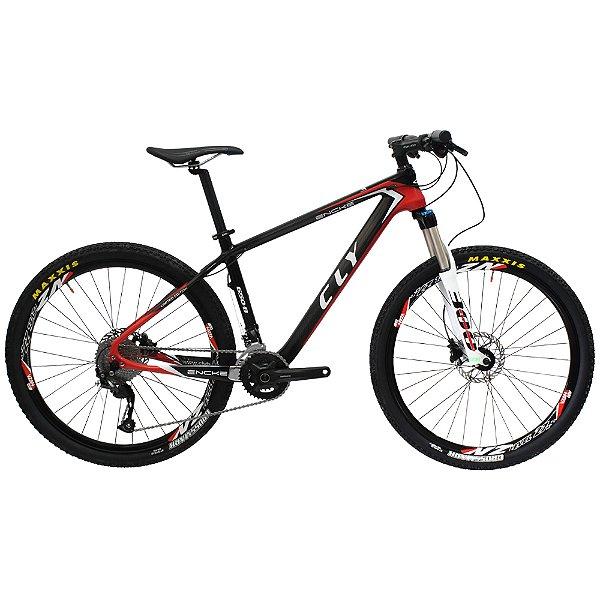 Bicicleta Cly 27.5 CFM 14 Encke Carbono Câmbio Shimano 18 Marchas Freio a Disco Hidráulico