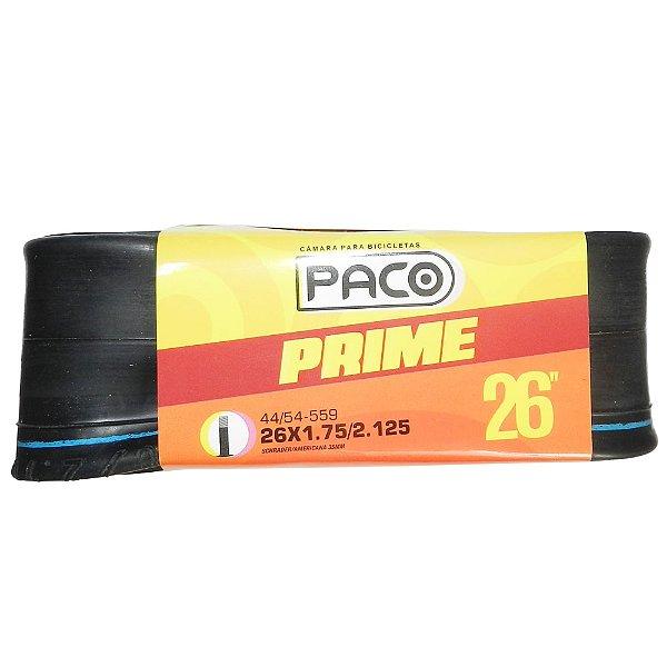 Câmara Paco Prime 26x1.75/2.125 - Válvula Americana 35mm Preto