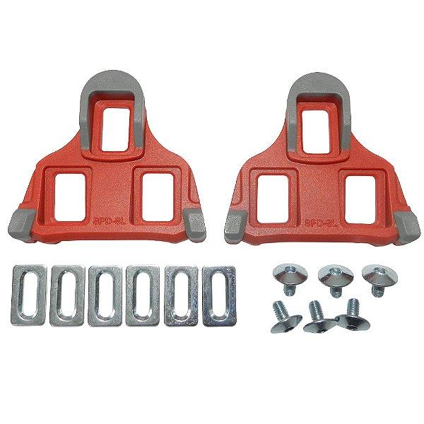 Taco de Pedal Cleat SL 6 para Pedal Road/Speed SPD-SL Vermelho/Cinza