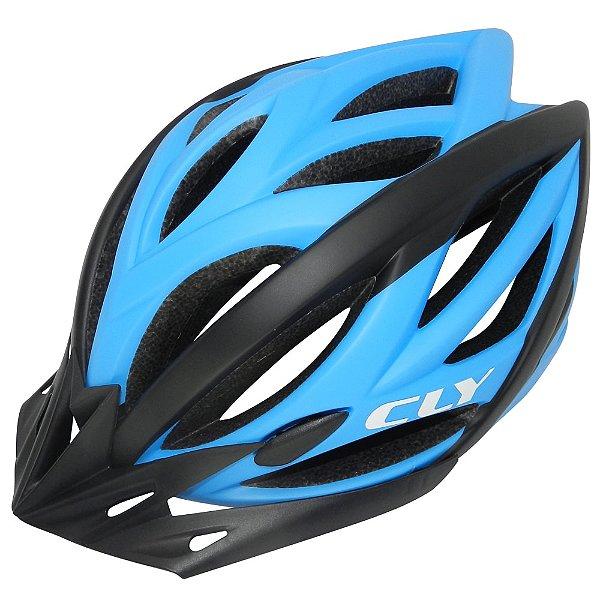 Capacete Cly In Mold MTB/Urbano para Ciclismo M Azul/Preto