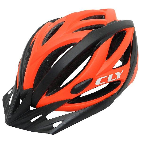 Capacete Cly In Mold MTB/Urbano para Ciclismo M Preto/Laranja