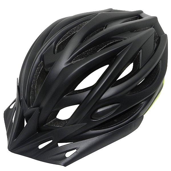 Capacete Cly In Mold MTB/Urbano para Ciclismo M Preto/Amarelo