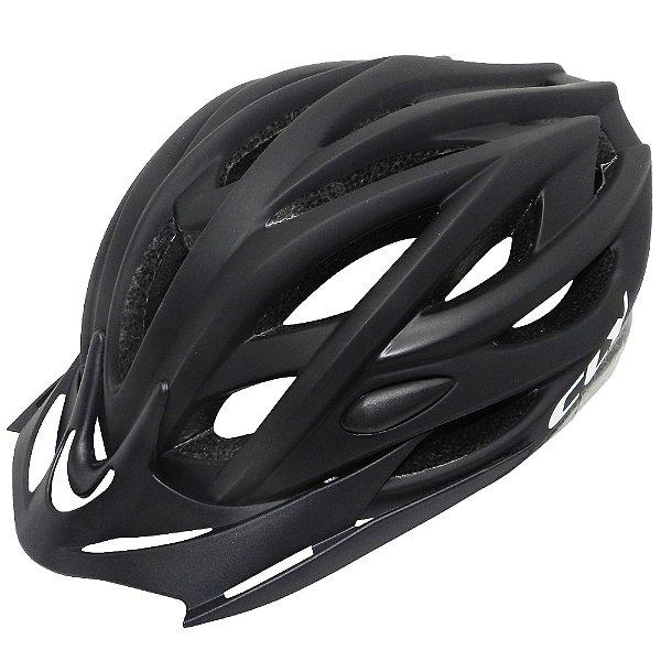 Capacete Cly Out Mold MTB/Urbano para Ciclismo M Preto