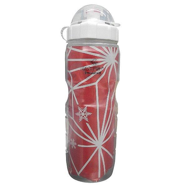 Caramanhola Isotérmica Calypso 500ml Branca/Vermelho