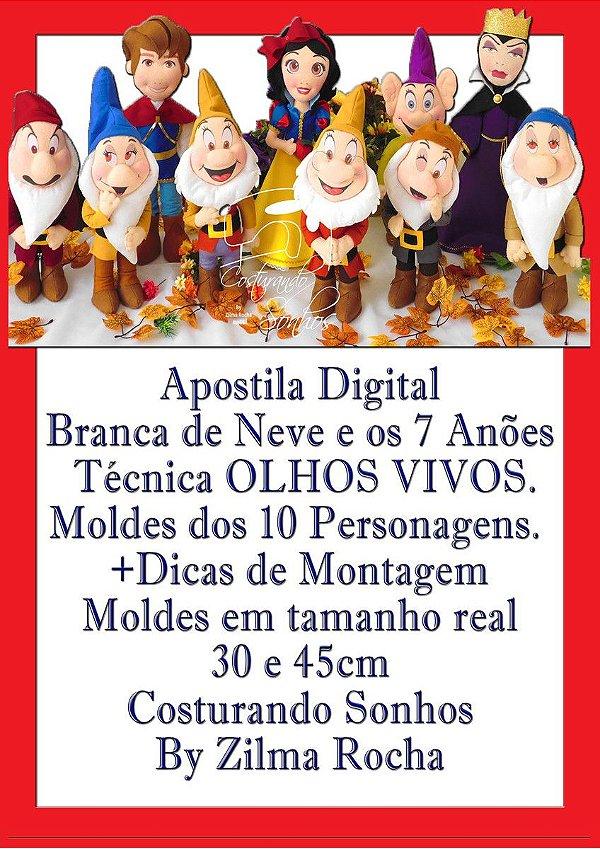 """APOSTILA DIGITAL DE MOLDES TEMA """"BRANCA DE NEVE"""""""
