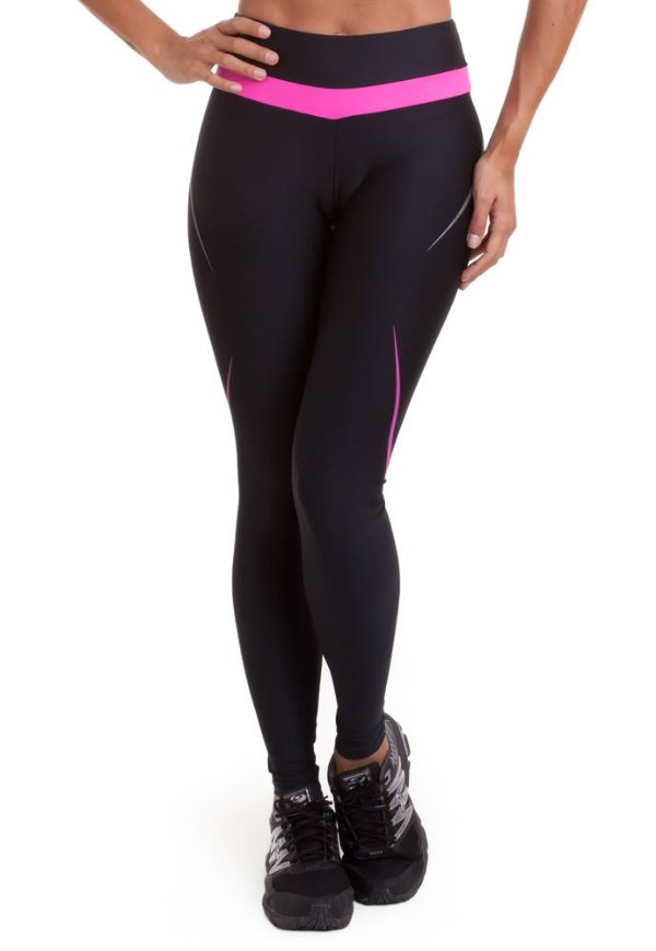 Legging Bump Preto/Rosa - AUTHEN