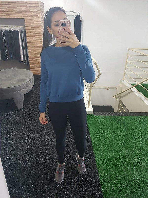 Blusão Moletom Azul - DB