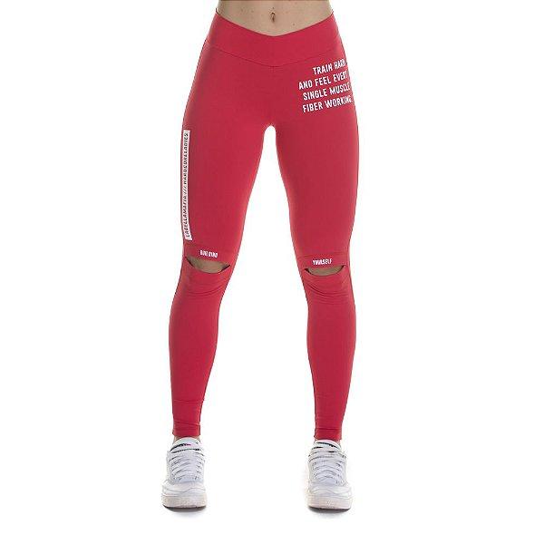 Legging FCL13596 Bodybuilding Red - LBM