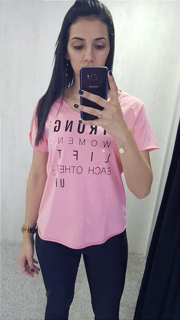 Camiseta Estampada Rosa 345700093 - Colcci