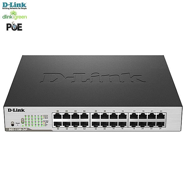 Switch Easy Smart D-link PoE 24 portas Gigabit-Ethernet 10/100/1000Mbps Desktop/Rackmount QoS dlinkGreen DGS-1100-24P