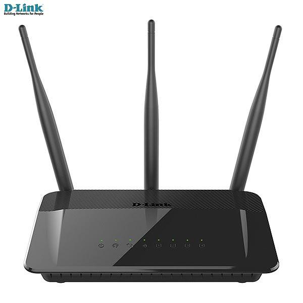 Roteador D-link Wireless AC 750Mbps Dualband (2,4 & 5GHz) 802.11AC + 3 antenas externas 5dBi DIR-809