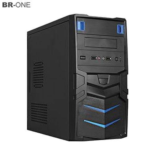 Gabinete Gamer BR-ONE Azul sem FONTE 2 Baias 2 portas USB Frontal - P11