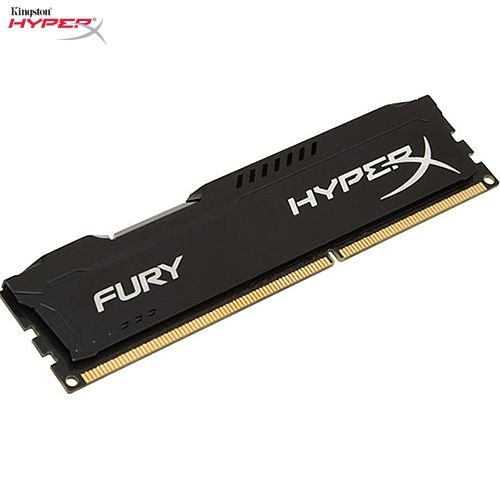 Memória 4GB PC DDR3 Kingston HyperX FURY 1600Mhz CL10 Black - HX316C10FB/4