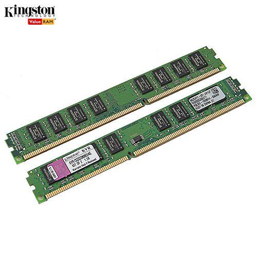 Memória 4GB PC DDR3 Kingston ValueRAM (2x2GB) Kit DIMM 1333MHz PC3-10600 - KVR1333D3N9/4G
