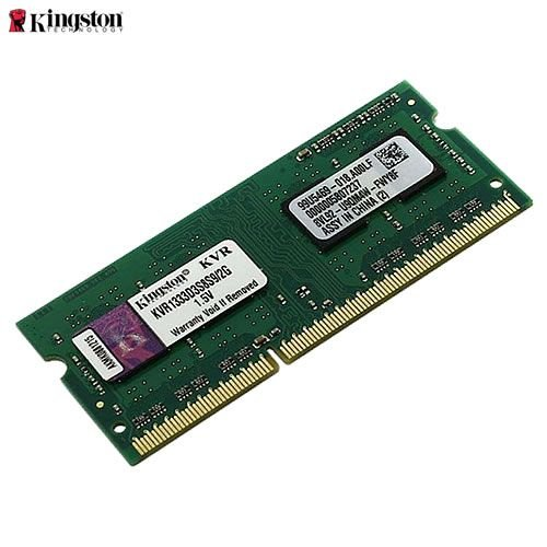 Memória 2GB Notebook DDR3 Kingston 1333 Mhz PC3-10600 CL9 204-Pin SODIMM - KVR1333D3S8S9/2G