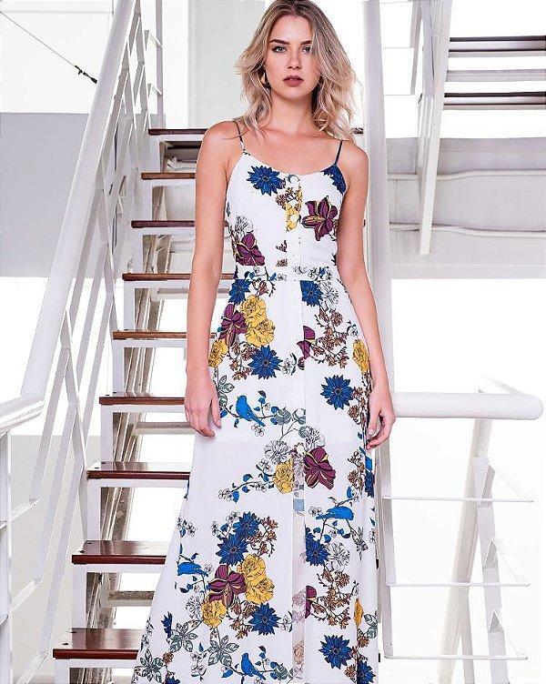 d1d94c52ce Vestido Longo Estampado Floral - Loja de Roupas Femininas - Blusa ...