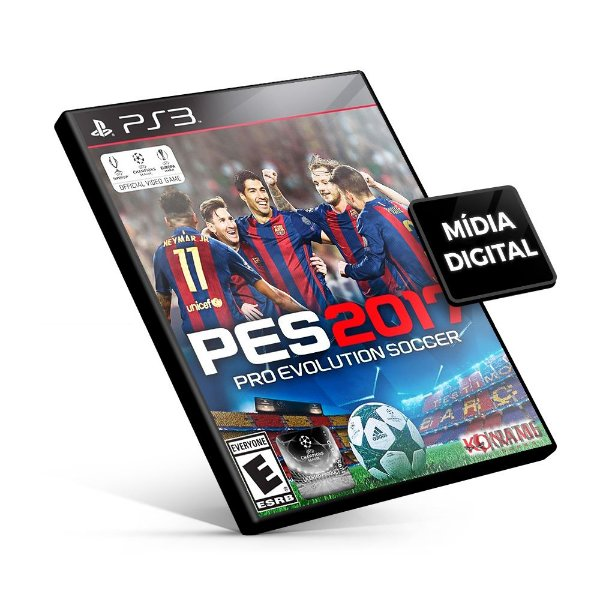 PES Pro Evolution Soccer 2017 - PS3 Mídia Digital