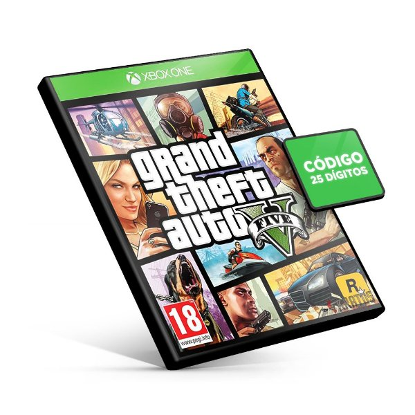 Grand Theft Auto V - GTA 5 Xbox One - Código 25 Dígitos
