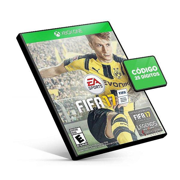 Fifa 17 Edição Padrão - Xbox One - Código 25 Dígitos