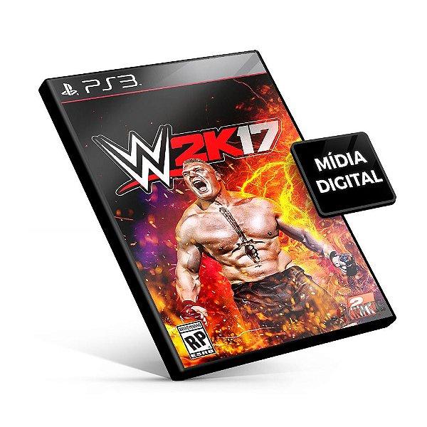 WWE 2K17 - PS3 Mídia Digital