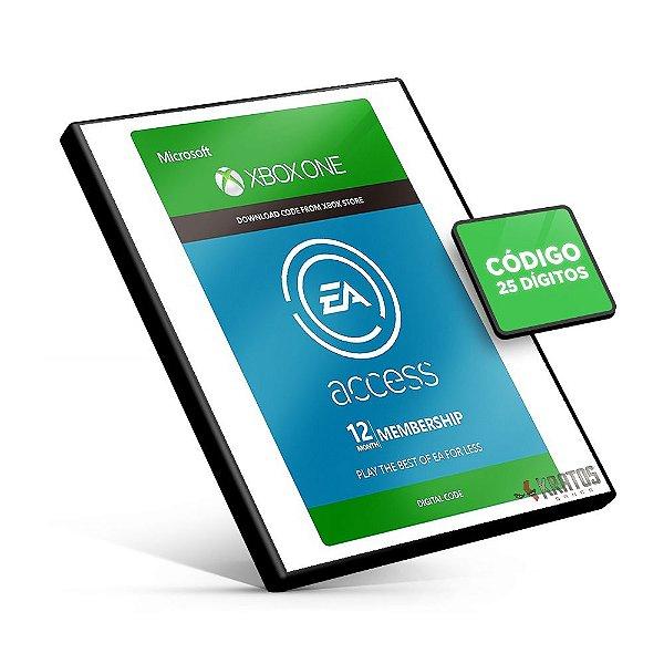 Cartão Microsoft Gift - Xbox - Ea Acess 12 Meses  - 25 Dígitos