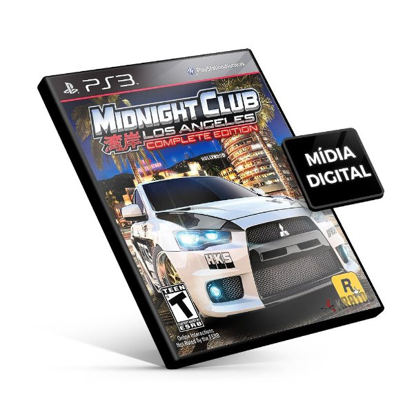 Midnight Club Los Angeles Complete Edition - PS3 Mídia Digital