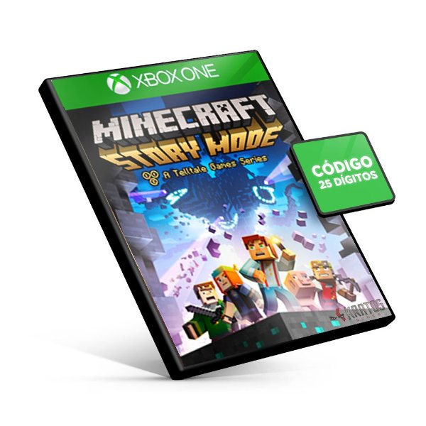 Minecraft Story Mode - The Complete Season - Xbox One - Código 25 Dígitos