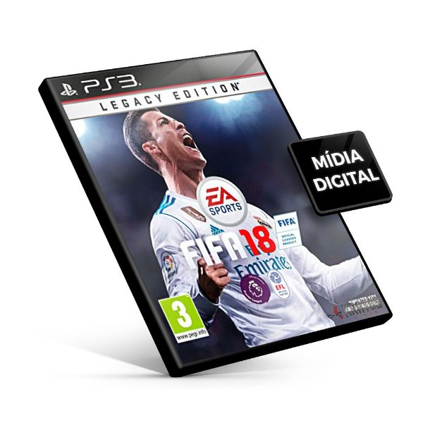 Fifa 18 Legacy Edition - PS3 Mídia Digital -  Português