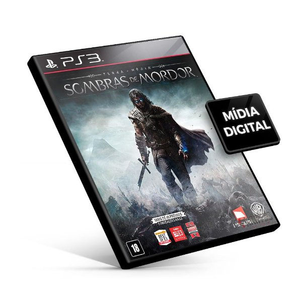Terra Média Sombras de Mordor - PS3 Mídia Digital - Versão Inglês