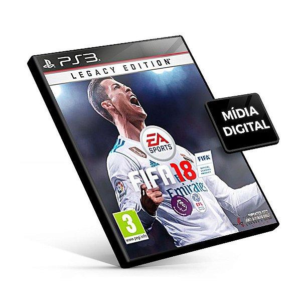 Fifa 18 Legacy Edition - PS3 Mídia Digital - Versão Inglês