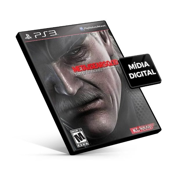 Metal Gear Solid 4 Guns of the Patriots - PS3 Mídia Digital