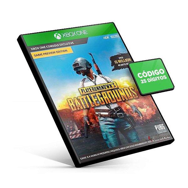 PUBG - Playerunknown's Battlegrounds - Xbox One - Código 25 Dígitos