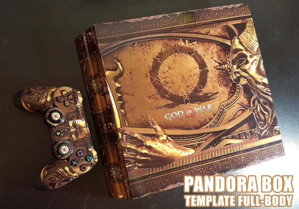 Skin Adesiva para PlayStation 4 - God of War Pandora + 2 Adesivos Light Bar