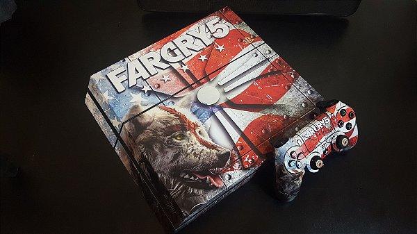 Skin Adesiva para PlayStation 4 - Far Cry 5 + 2 Adesivos Light Bar