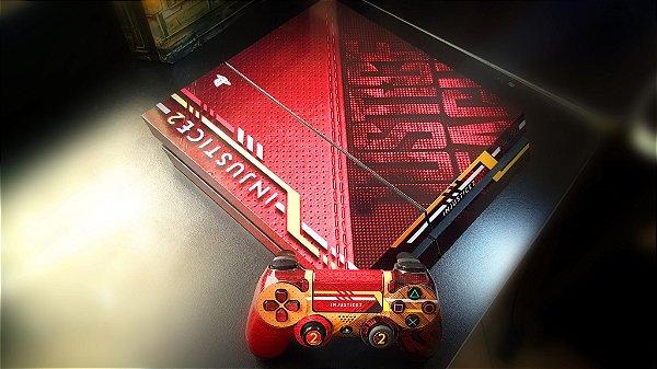 Skin Adesiva para PlayStation 4 - Injustice 2 + 2 Adesivos Light Bar