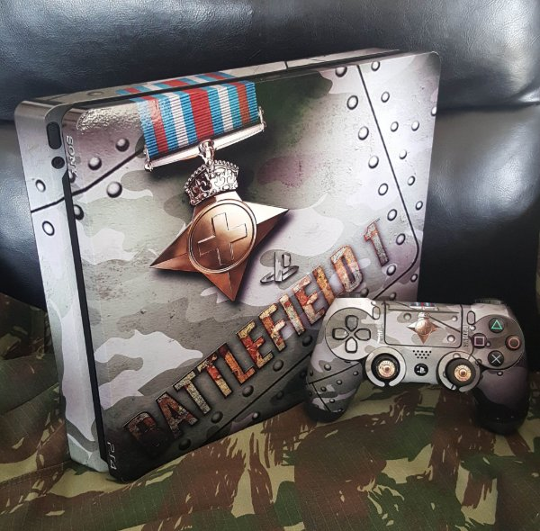 Skin Adesiva para PlayStation 4 - Battlefield 1 + 2 Adesivos Light Bar