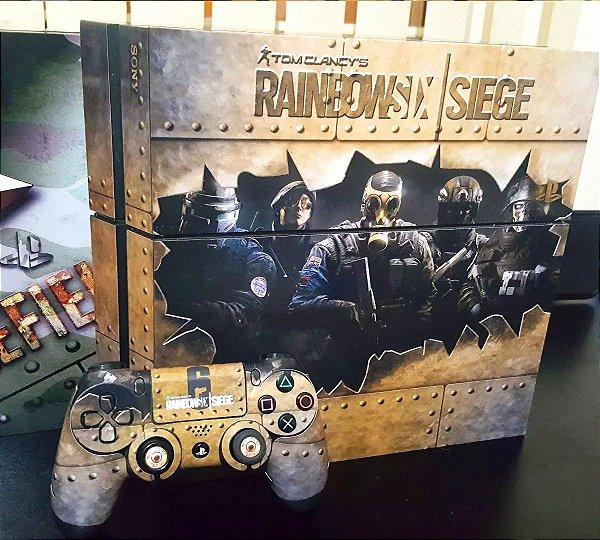 Skin Adesiva para PlayStation 4 - Rainbow Six + 2 Adesivos Light Bar