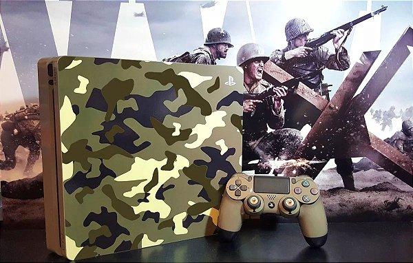 Skin Adesiva para PlayStation 4 - Camulfado + 2 Adesivos Light Bar