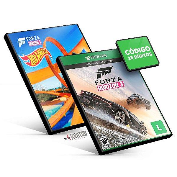 Forza Horizon 3 + Hot Wheels DLC - Xbox One - Código 25 Dígitos