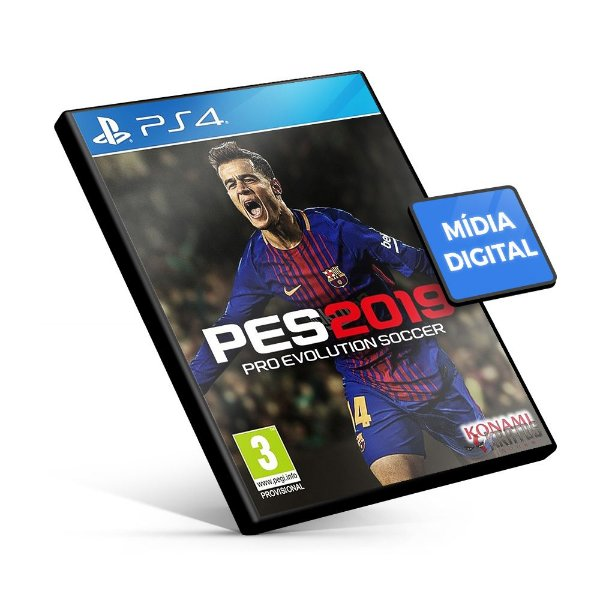 PES Pro Evolution Soccer 2019 - PS4 Mídia Digital