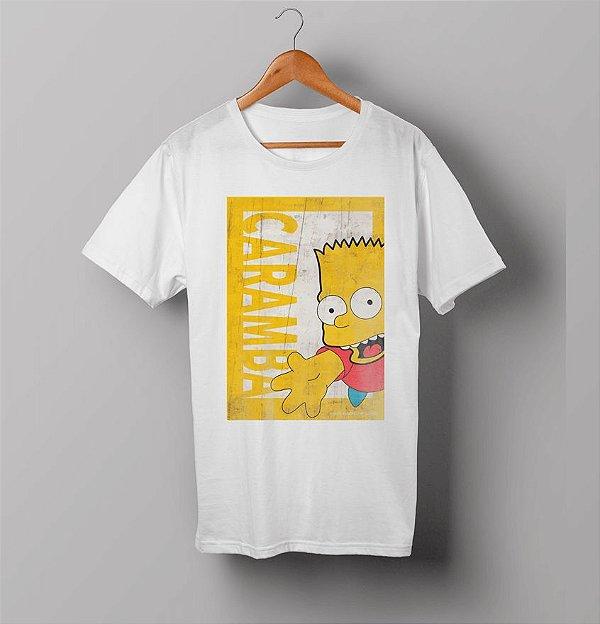 Camiseta - Bart Simpsons - Caramba