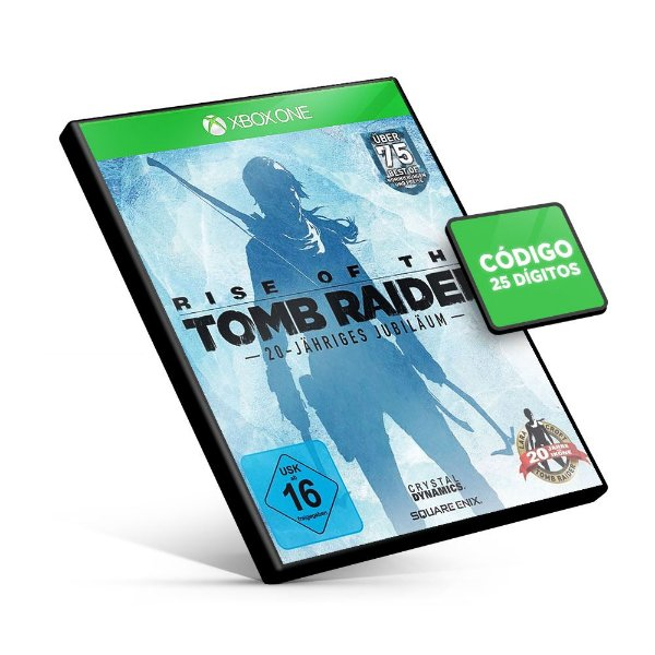 Rise of the Tomb Raider 20 Year Celebration Edition - Xbox One - Código 25 Dígitos