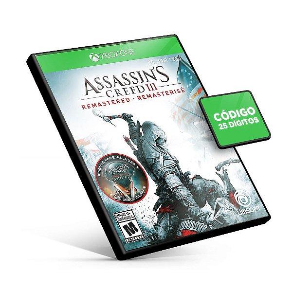 Assassin's Creed® III Remastered Xbox One Código 25 Digitos