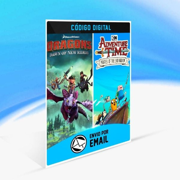 Adventure Time: Pirates of the Enchiridion and DreamWorks Dragons Dawn of New Riders Bundle - Xbox One Código 25 Dígitos